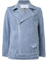 Giacca da moto di jeans azzurra di Le Ciel Bleu