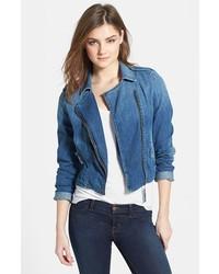 Giacca da moto di jeans blu