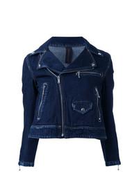 Giacca da moto di jeans blu scuro di Maison Mihara Yasuhiro