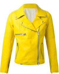 Giacca da moto in pelle gialla di S.W.O.R.D.