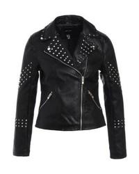 Giacca da moto in pelle nera di New Look