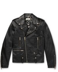 Giacca da moto in pelle nera di Saint Laurent