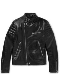 Giacca da moto in pelle nera di Tom Ford