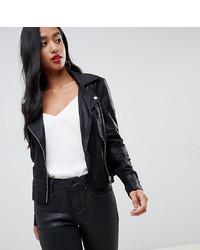 Giacca da moto in pelle nera di Y.A.S Petite