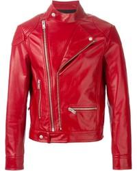 check out f6145 a691b Giacche da moto in pelle rosse da uomo | Moda uomo | Lookastic