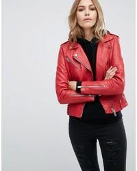 hot sale online 8fa70 4111e Giacche in pelle rosse da donna di Mango | Moda donna ...