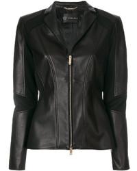 Giacca da moto nera di Versace
