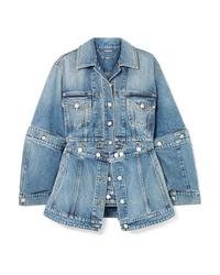 Giacca di jeans azzurra di Alexander McQueen