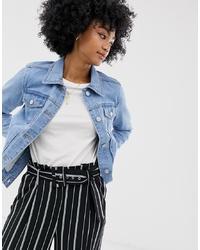 Giacca di jeans azzurra di Warehouse
