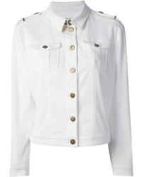 Giacca di jeans bianca