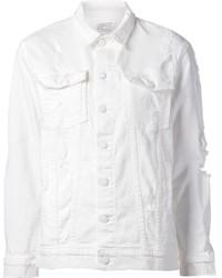 Giacca di jeans bianca di Current/Elliott