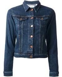 Giacca di jeans blu scuro