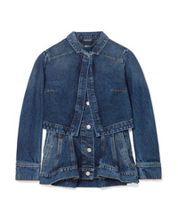 Giacca di jeans blu scuro di Alexander McQueen