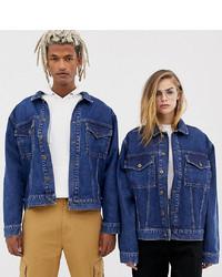 Giacca di jeans blu scuro di Collusion