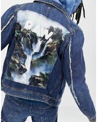 Giacca di jeans blu scuro di G Star