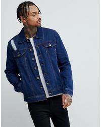 Giacca di jeans blu scuro di Hoxton Denim