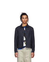 Giacca di jeans blu scuro di Moncler Genius