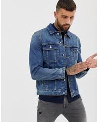 Giacca di jeans blu di ASOS DESIGN