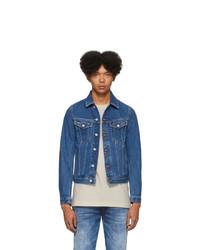 Giacca di jeans blu di Diesel