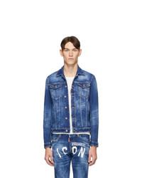 Giacca di jeans blu di DSQUARED2