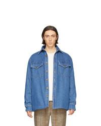 Giacca di jeans blu di Nanushka