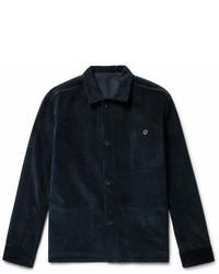Giacca di jeans di velluto a coste blu scuro