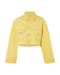 Giacca di jeans gialla di Ganni