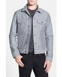 Giacca di jeans grigia