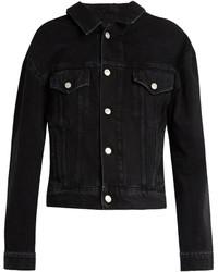Giacca di jeans nera