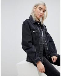 Giacca di jeans nera di ASOS DESIGN