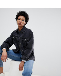 Giacca di jeans nera di Asos Tall