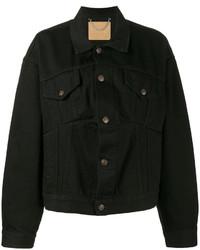 Giacca di jeans nera di Balenciaga