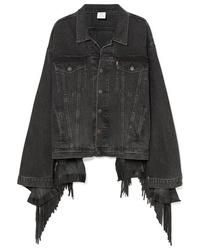 Giacca di jeans nera di Vetements