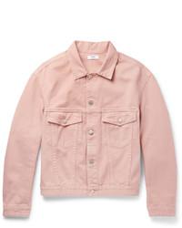 Giacca di jeans rosa