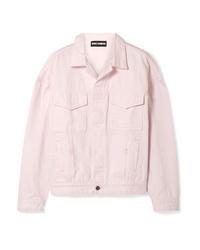 Giacca di jeans rosa di Double Rainbouu