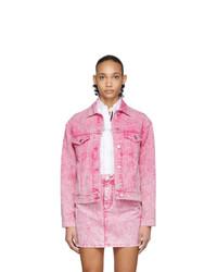 Giacca di jeans rosa di MSGM