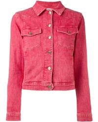 Giacca di jeans rossa
