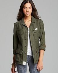Giacca di jeans verde oliva