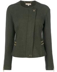 Giacca di lana con borchie verde scuro di MICHAEL Michael Kors