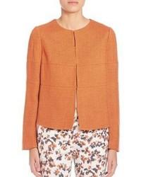 Giacca di tweed arancione