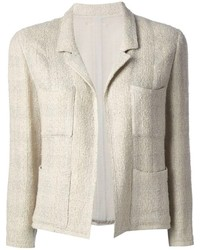 Giacca di tweed beige