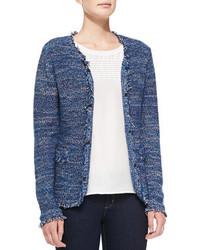 Giacca di tweed blu