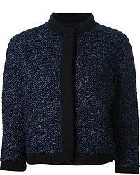 Giacca di tweed blu scuro