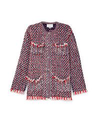 Giacca di tweed decorata rossa di Gucci