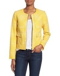 Giacca di tweed gialla
