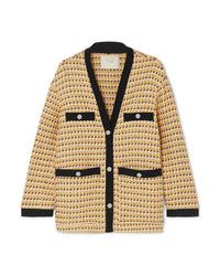 Giacca di tweed gialla di Maje