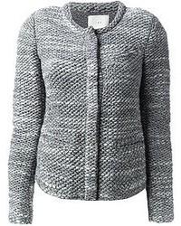 Giacca di tweed grigia