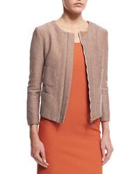 Giacca di tweed marrone chiaro