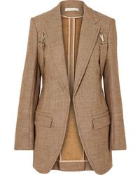 Giacca di tweed marrone chiaro di Chloé