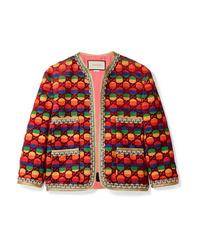 Giacca di tweed multicolore di Gucci